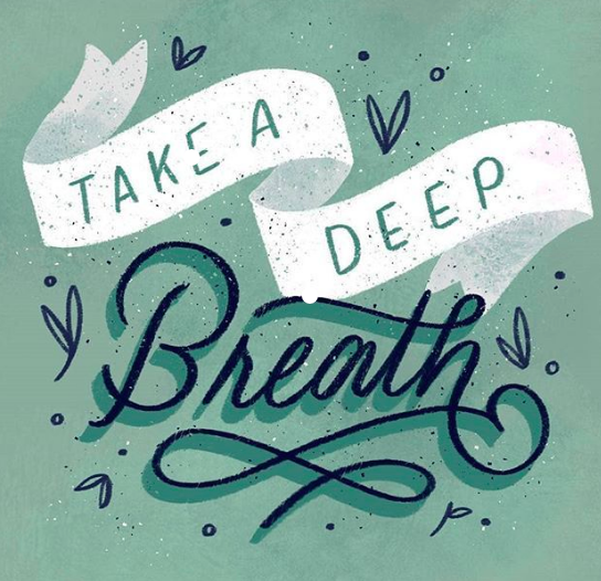 Take a deep breath graphic