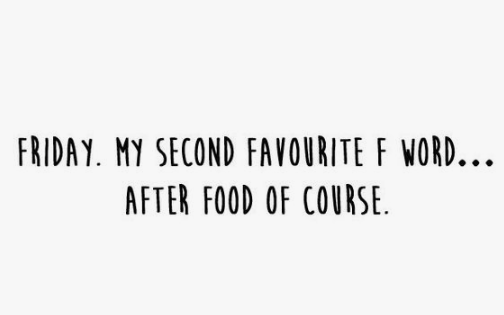 Quote about food being my favorite F word